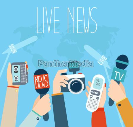 journalism concept vector illustration