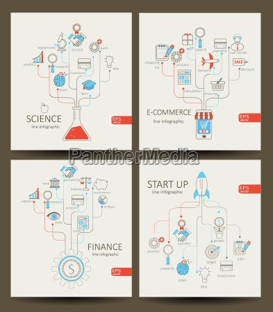infographics of startup finance e commerce