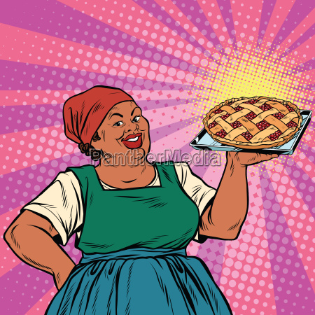 retro old female african american berry