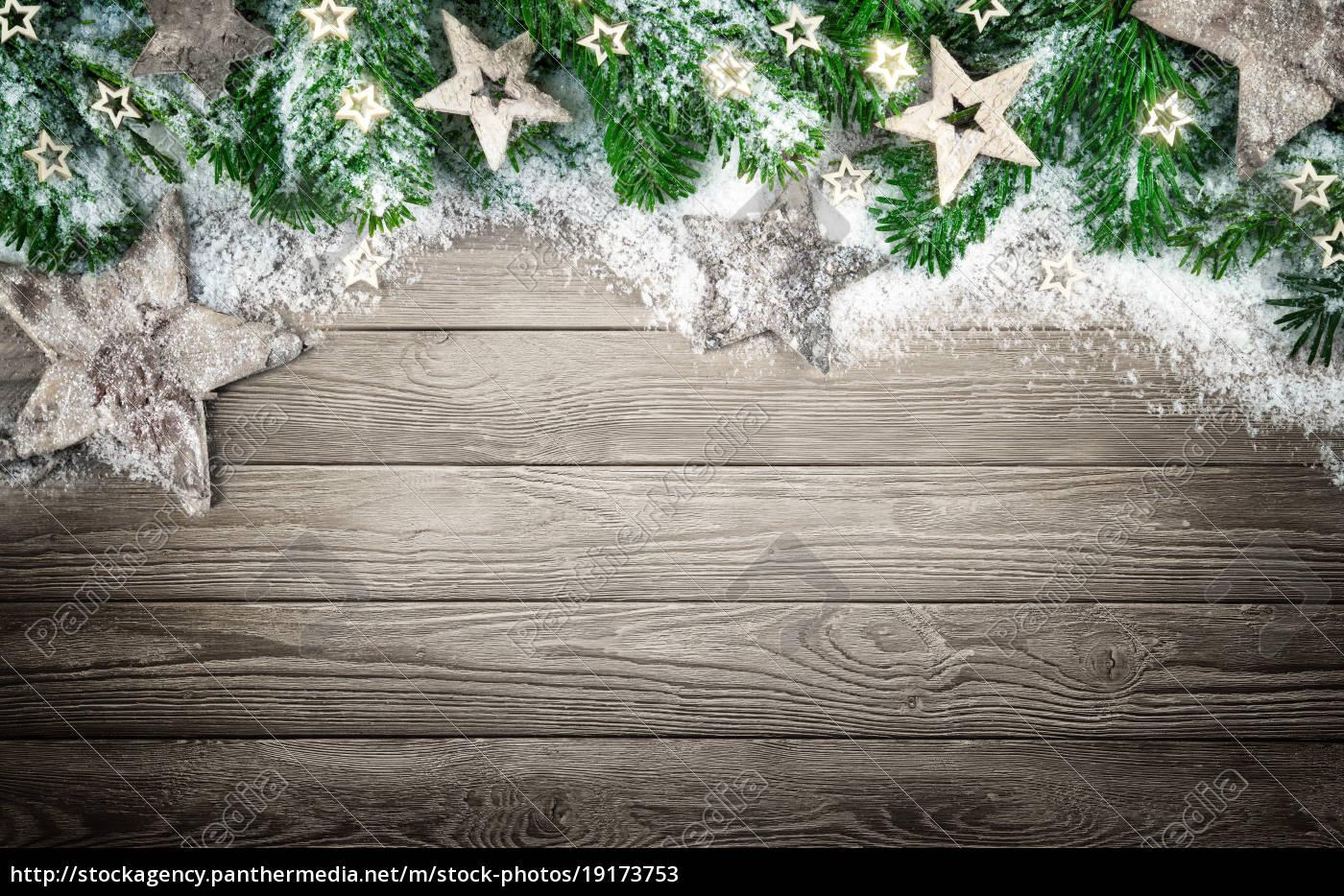 Weihnachten Hintergrund.Stockfoto 19173753 Hintergrund Für Weihnachten Und Advent Mit Holz Schnee Und