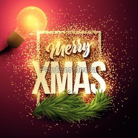 vector christmas greeting card merry xmas
