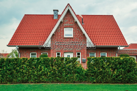 two storey house in small city