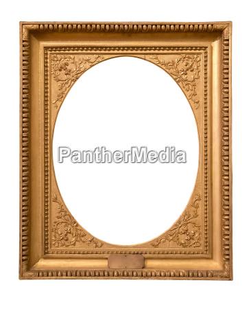 rectangle dekorativer goldener bilderrahmen