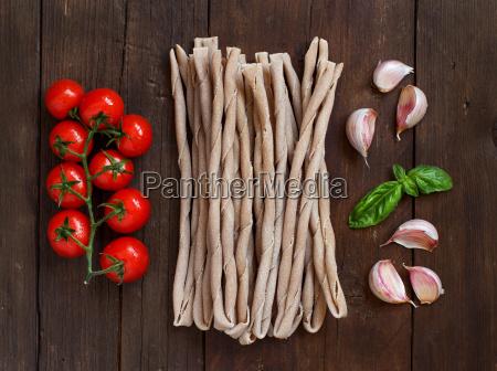 raw italian pasta basil and
