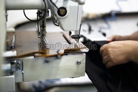 production of clothes sewing on a