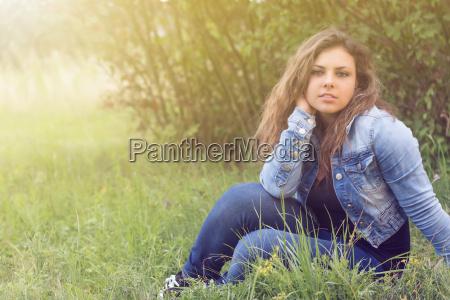 portrait of cool teenage girl