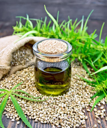oil hemp with seed on board