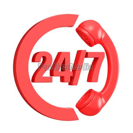rot 24 stunden 7 tage die
