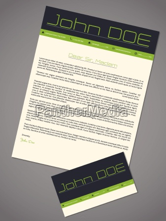 modern cover letter cv resume in