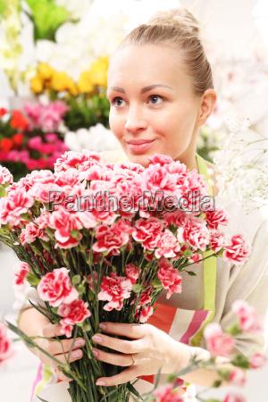 beautiful cut flowers florist arranges medley