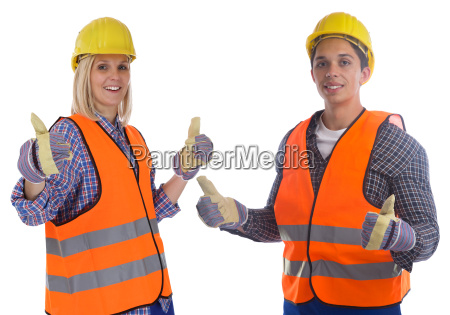 construction worker construction man woman young