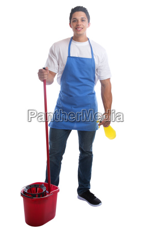 cleaning cleaner siter profession man full
