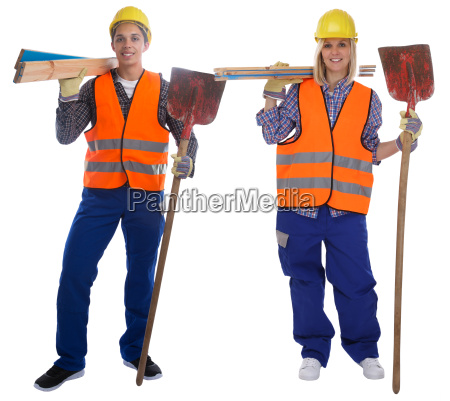 young construction worker worker construction full