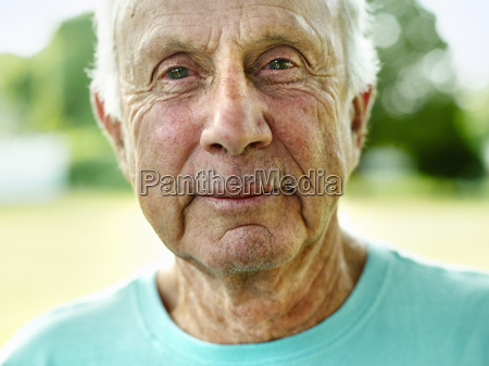 portrait of a senior man with