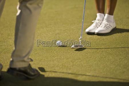 leutedie golf spielen