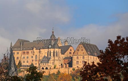 marburg castle in autumn