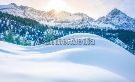 berge winter dezember schnee hintergrund