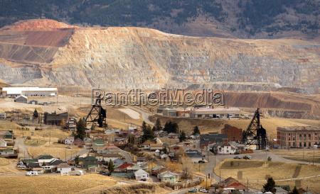 mining activities equipment houses walkerville butte