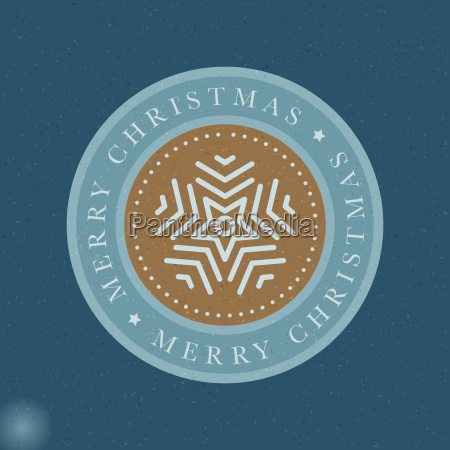 vector snowflake christmas greeting card circle