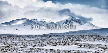 wintergebirgslandschaft island