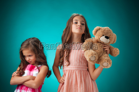 the two cute little girls on