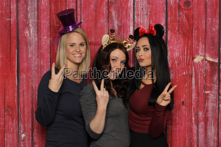 photo booth freundinnen victory peace huete