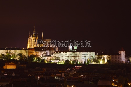 prague castle night view