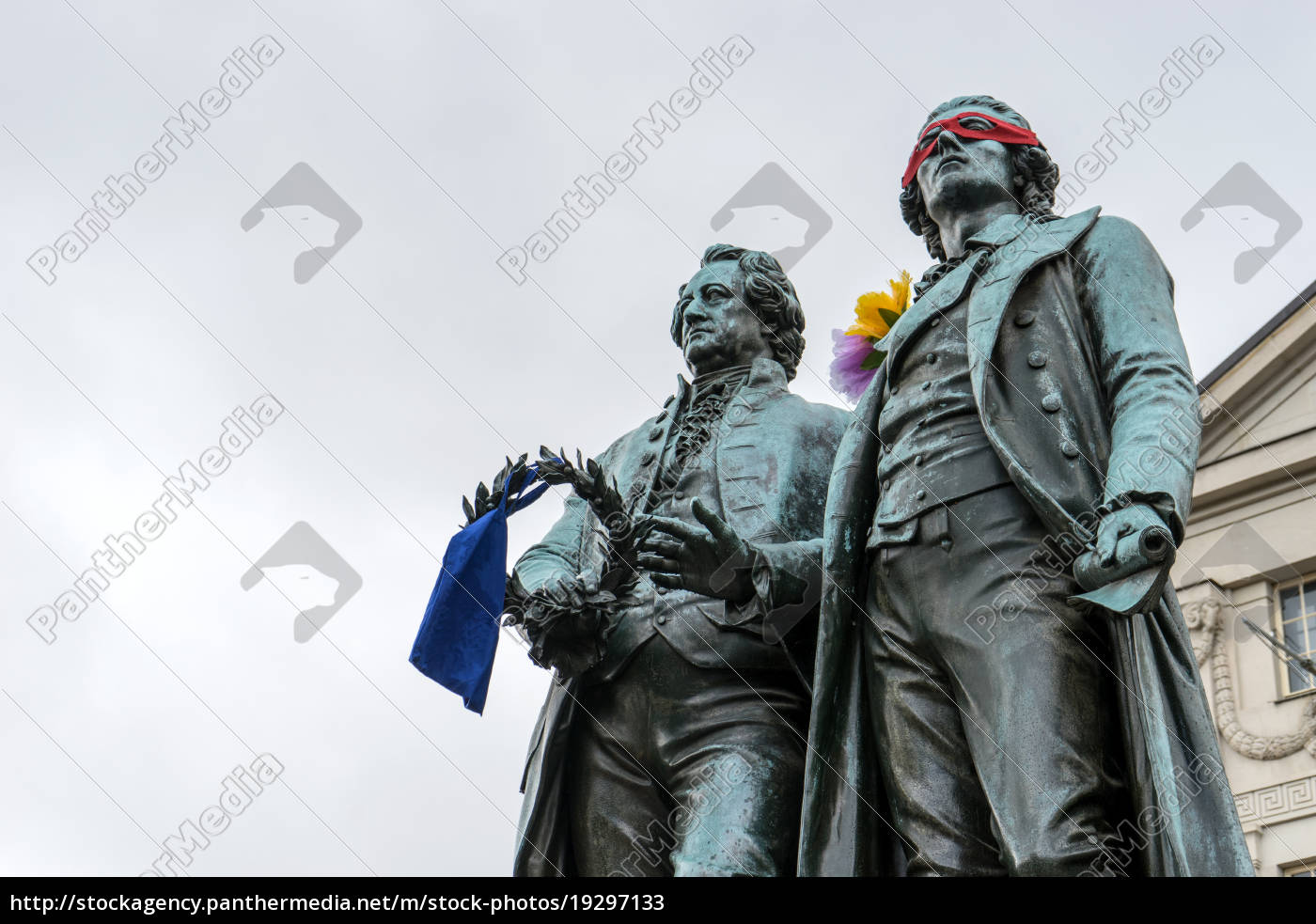 monument, to, goethe, and, schiller, before - 19297133
