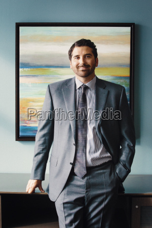 man in a suit businessman standing