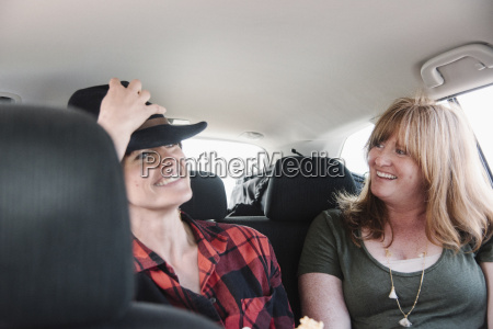 two women in a car on