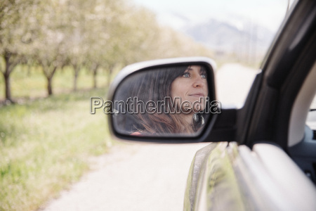 woman in a car on a