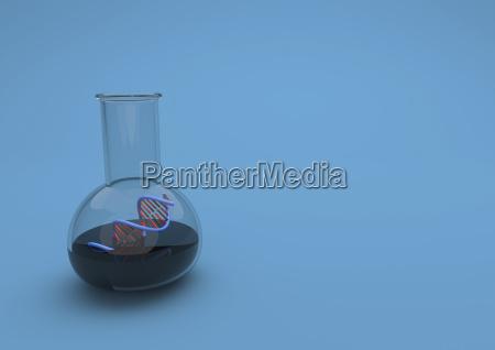 3d illustration test tube with dna