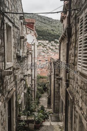 croatia dubrovnik narrow alley in the