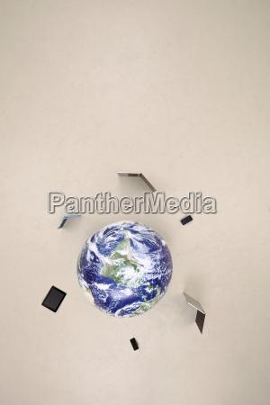 globus mit mobilen geraeten