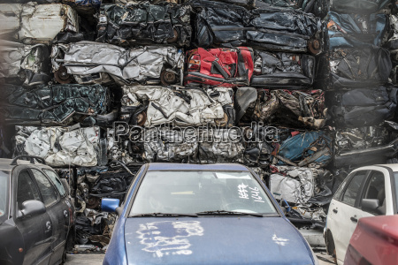 old cars on car dump