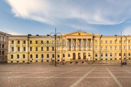 finnland helsinki universitaet senatsgebaeude senatsplatz