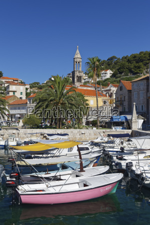 croatia hvar island harbour and fishing