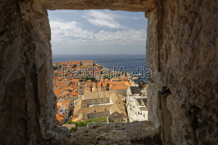 croatia dubrovnik old town view from
