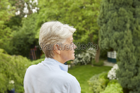 profile of woman with grey hair