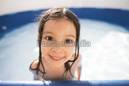 portrait of smiling little girl in