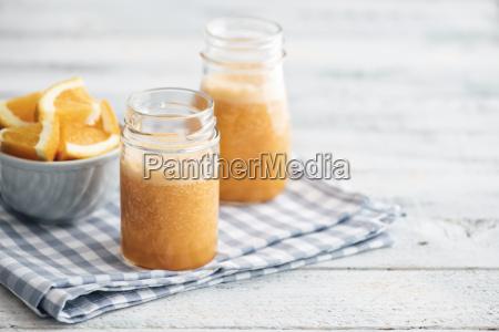 orange carrot pineapple ginger smoothie in