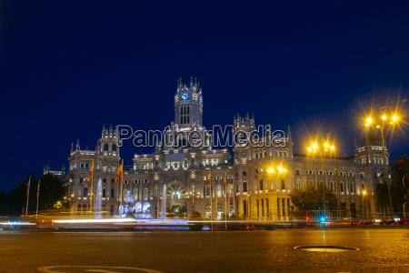 spanien madrid madrid rathaus in der