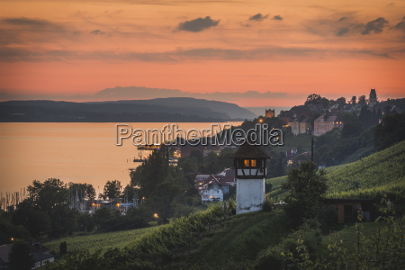 germany meersburg view of city at