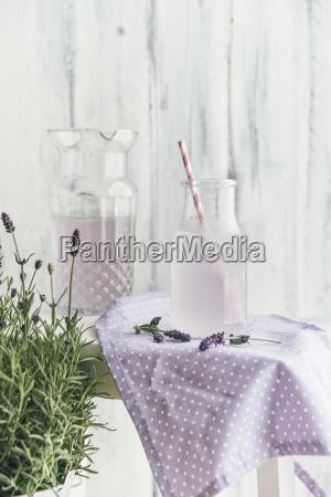 selbst gemachte lavendel limonade mit zitrone