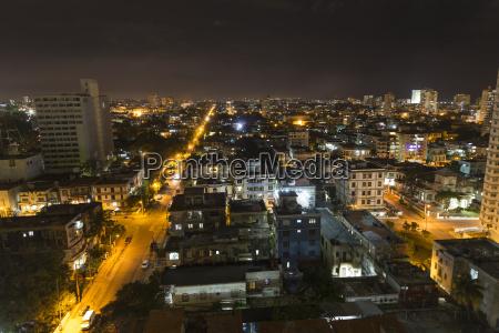 kuba havanna stadtbild bei nacht