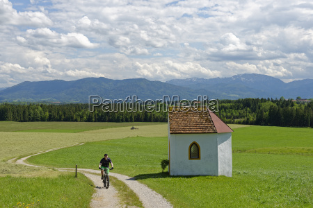 germany bavaria faistenberg near beuerberg cyclist