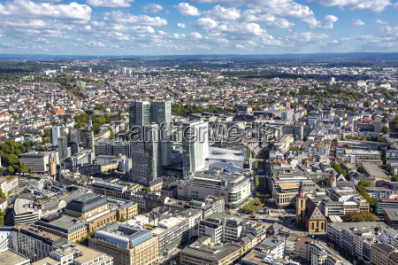 germany hesse frankfurt financial district with