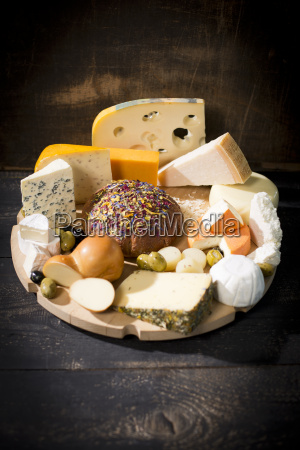 cheese platter with different sorts of