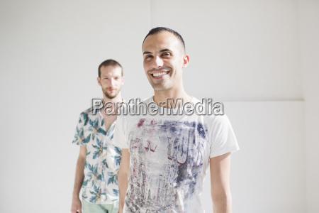 portrait of happy gay couple