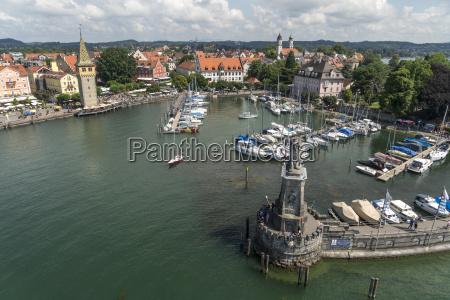 germany bavaria lindau elevated view of
